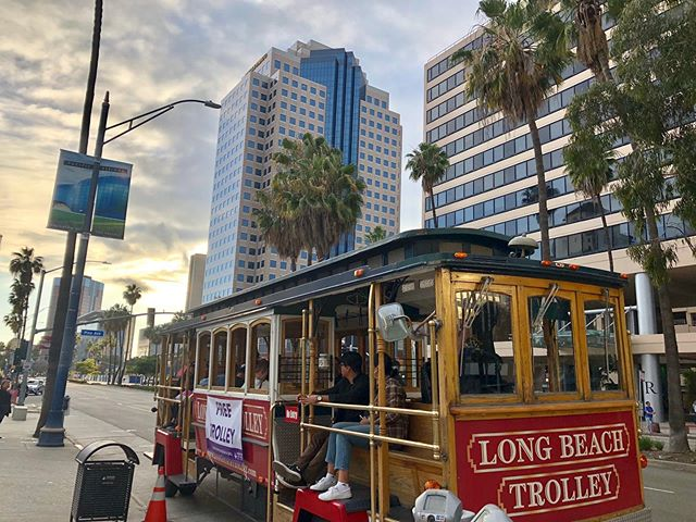 Hop on the trolley for FREE tonight during #liveafter5ive! Check out various shops and restaurants with free live music.  #DTLB #DowntownLongBeach #LBC #Longbeachca