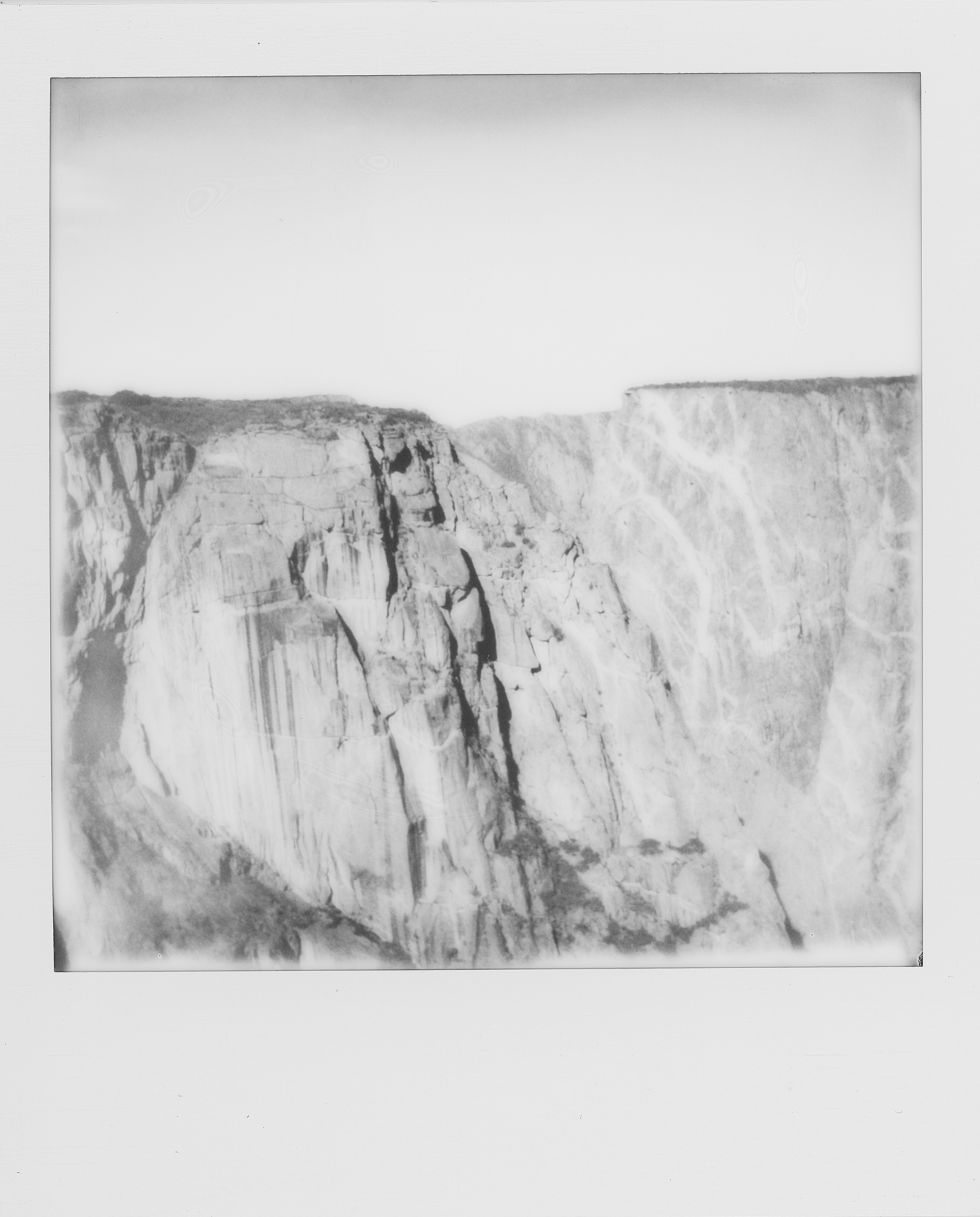 into the west Black Canyon of the Gunnison 2019 Polaroid b&w (4 of 7).jpg