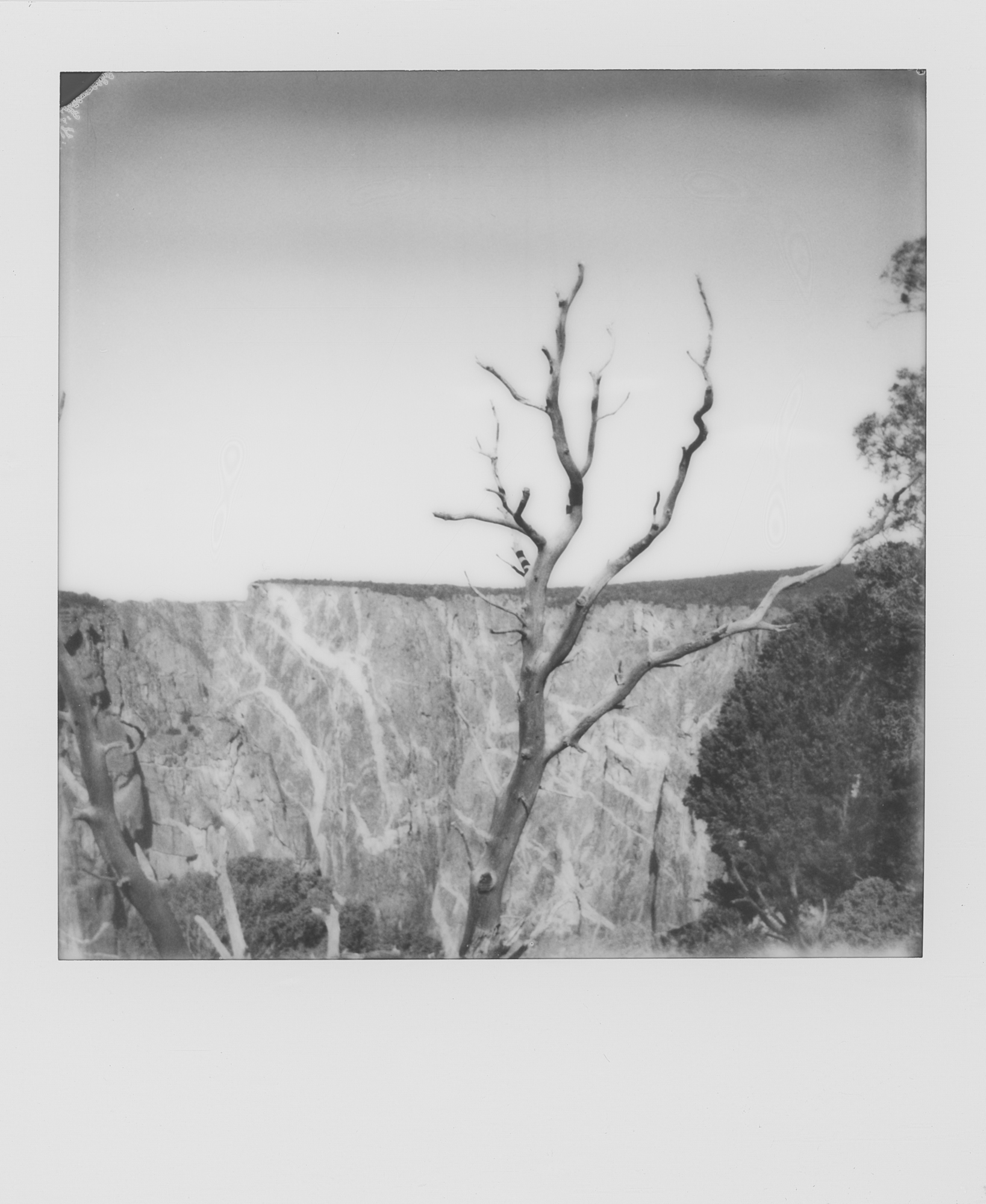into the west Black Canyon of the Gunnison 2019 Polaroid b&w (7 of 7).jpg