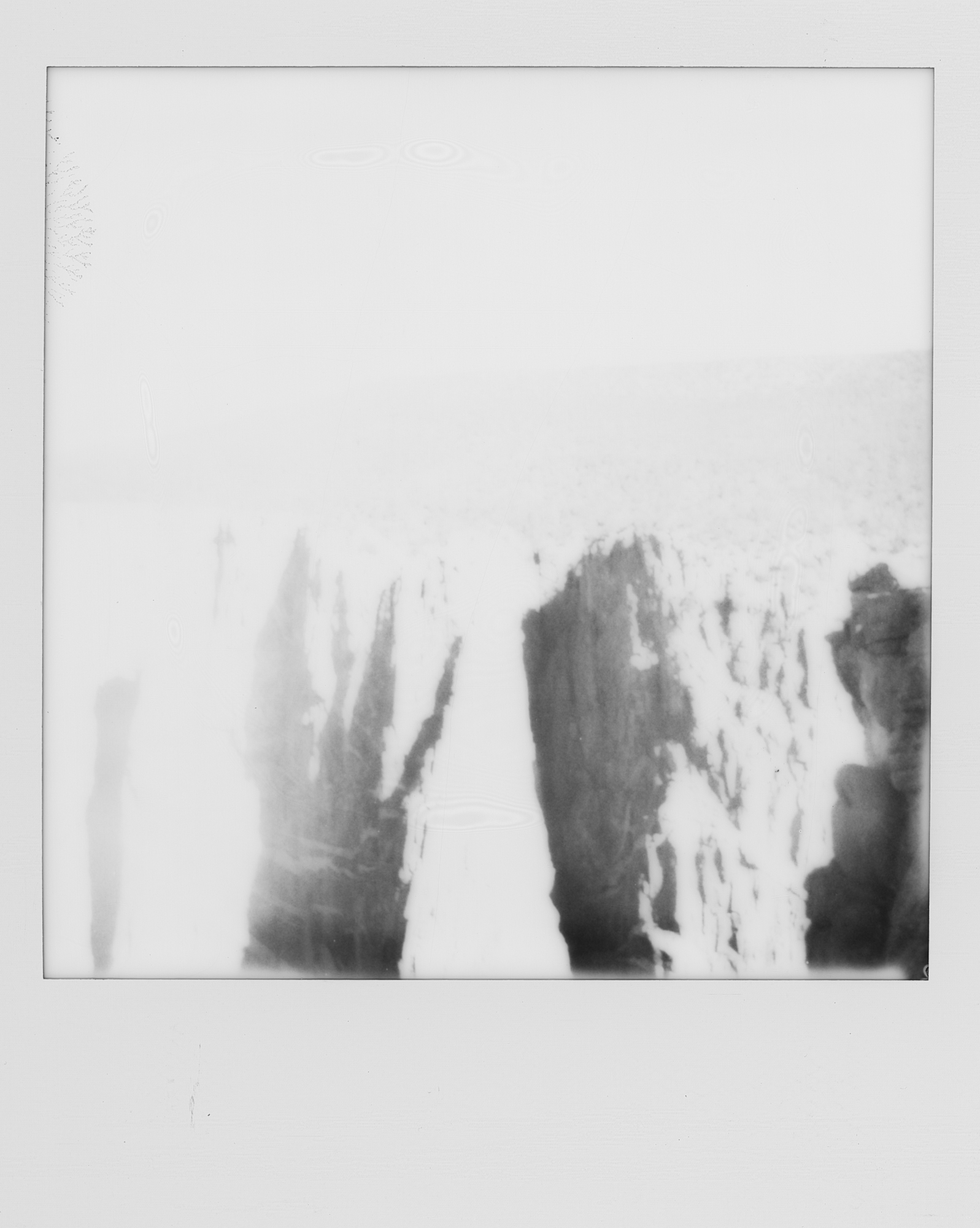 into the west Black Canyon of the Gunnison 2019 Polaroid b&w (1 of 7).jpg
