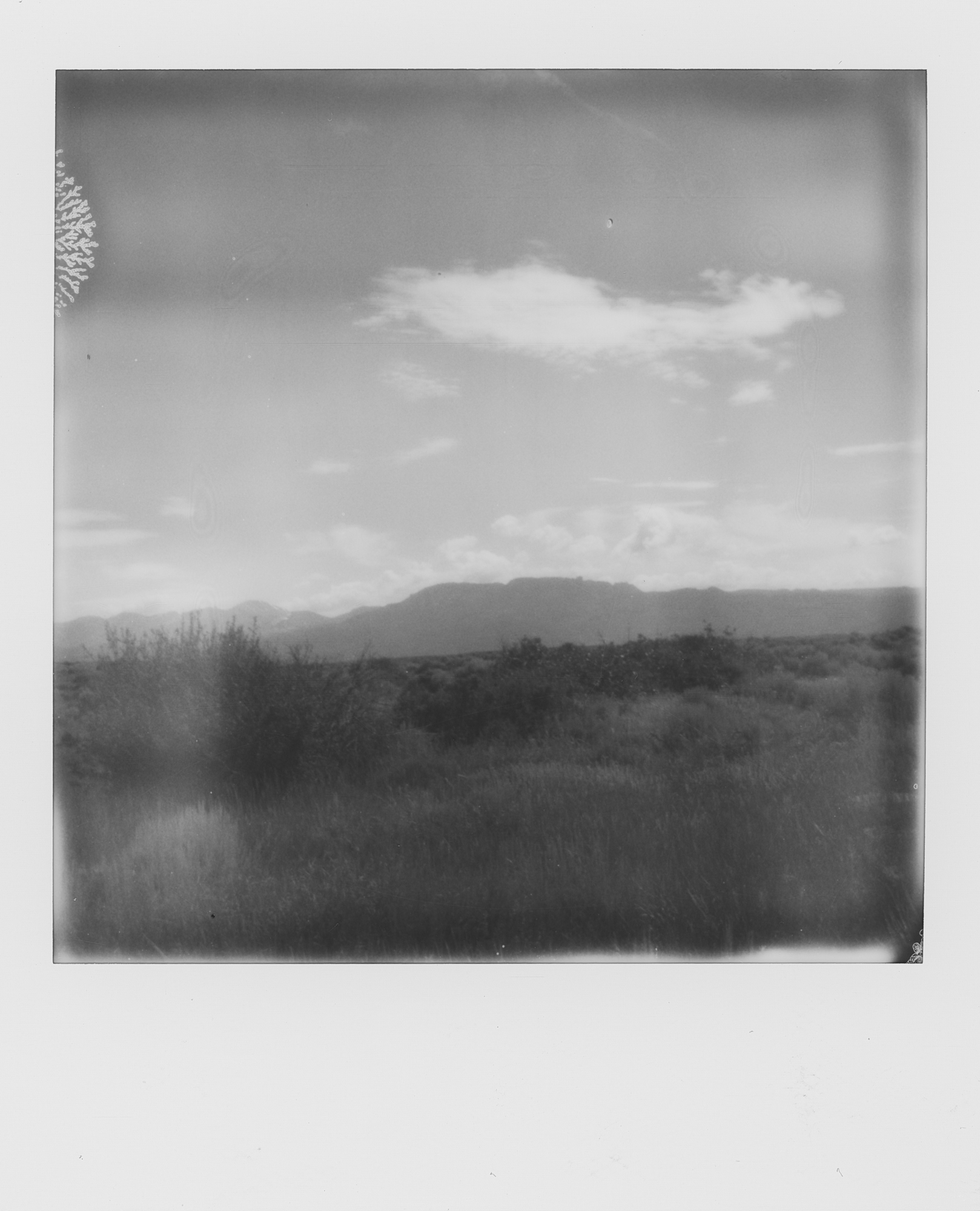 into the west Black Canyon of the Gunnison 2019 Polaroid b&w (3 of 7).jpg