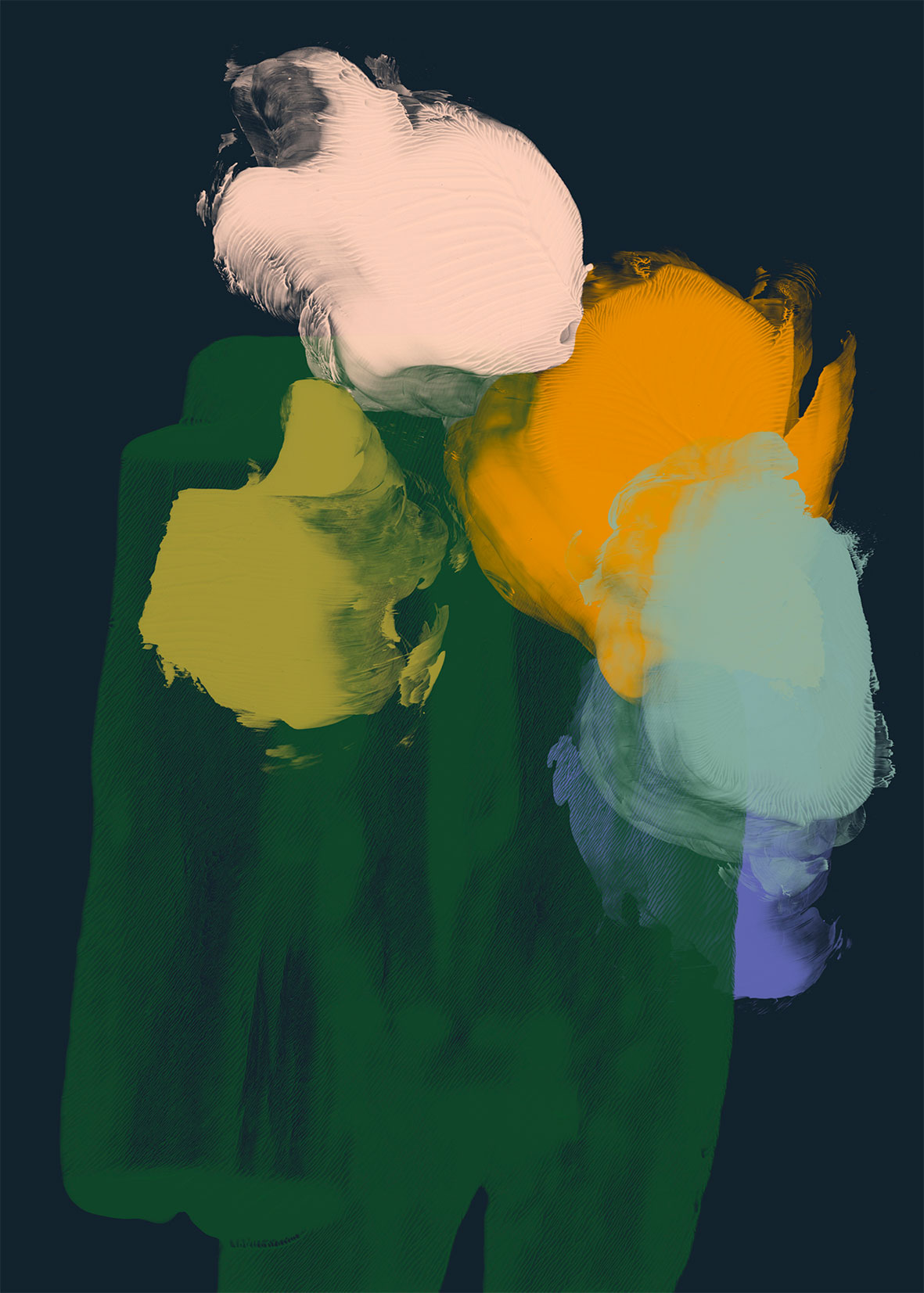 Kukkapuska, 2014, Pigmenttiprintti paperille, 100 x 70 cm. / Flower Bunch, 2014, Pigmentprint on paper, 100 x 70 cm.  © Reeta Ek