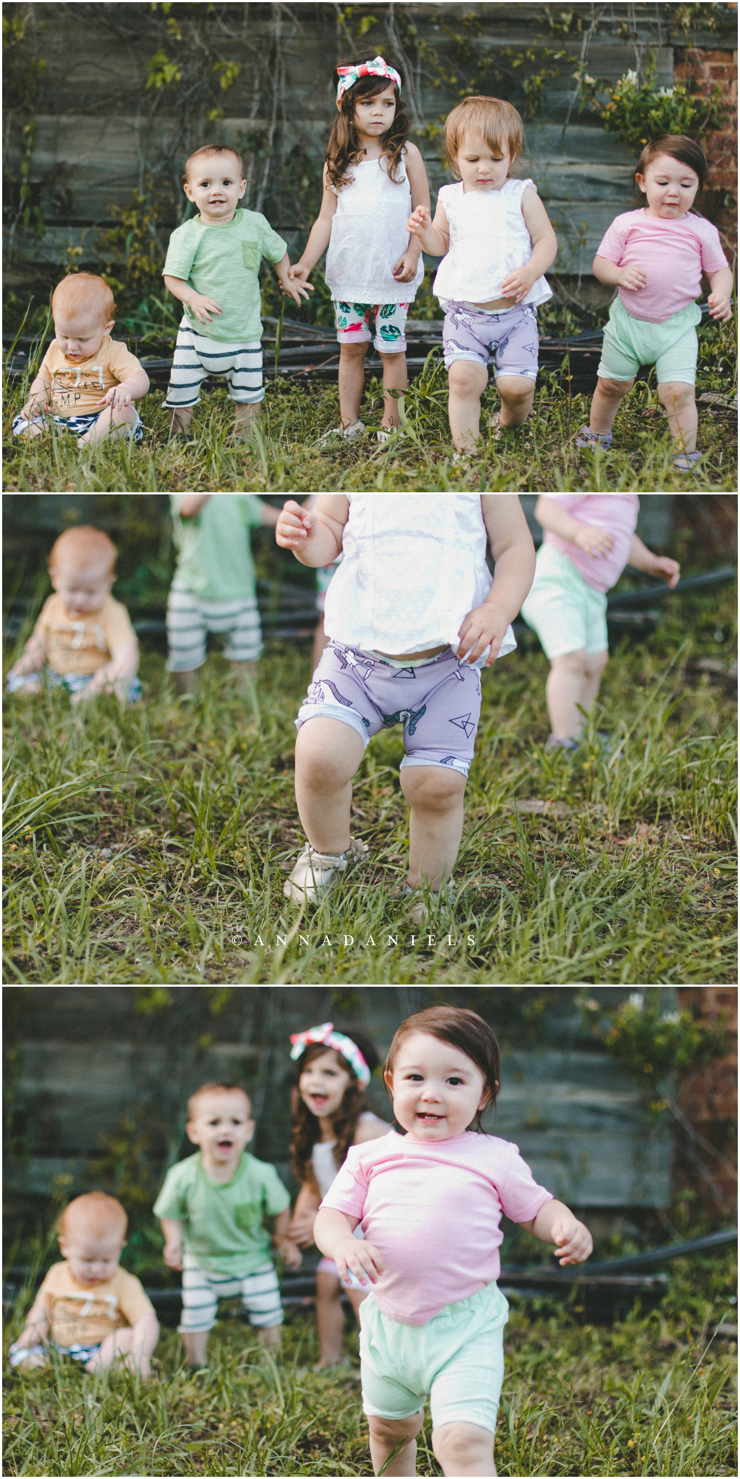 This is the reality of taking photos of 4 babies under the age of 15 months and a 3 year old :)