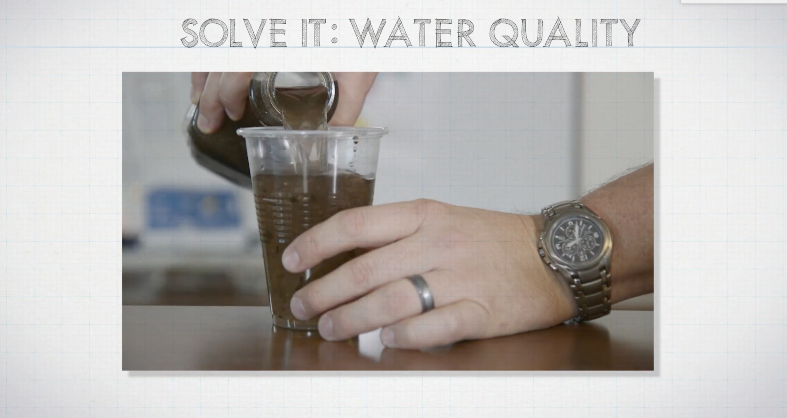 Solve It: Water Quality - Research tools and methods used to provide clean water and improve or design a better tool or method.