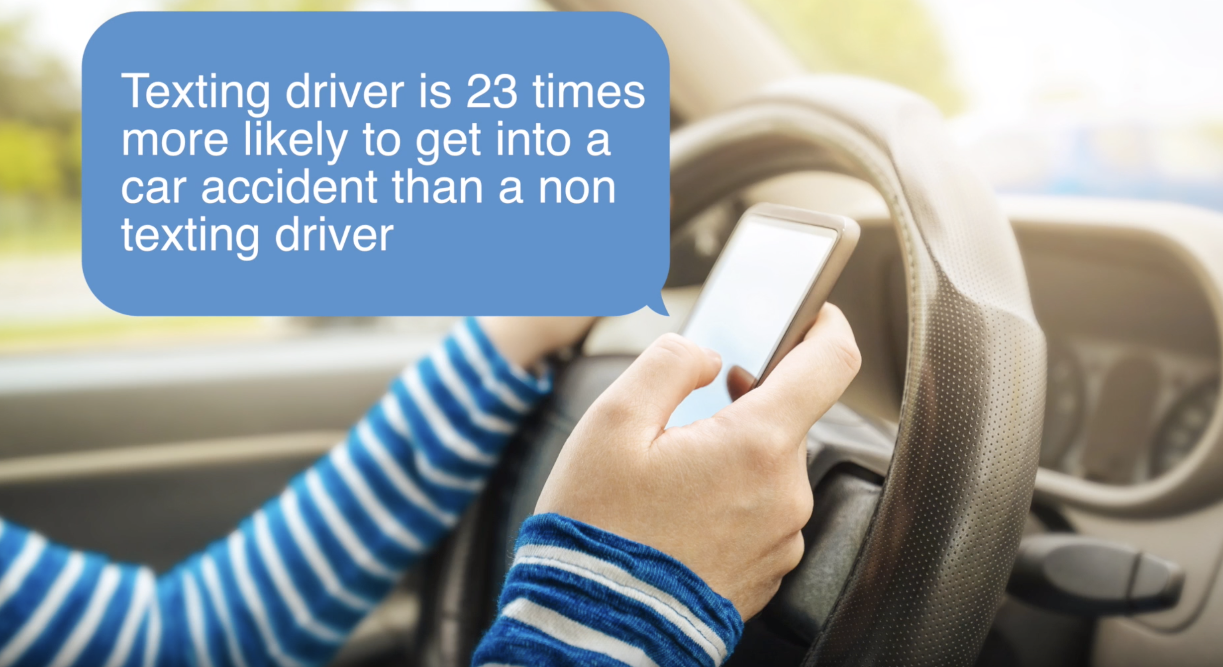 Solve It: Distracted Driving - Your challenge: To design a solution to reduce the number of accidents caused by distracted driving and texting.