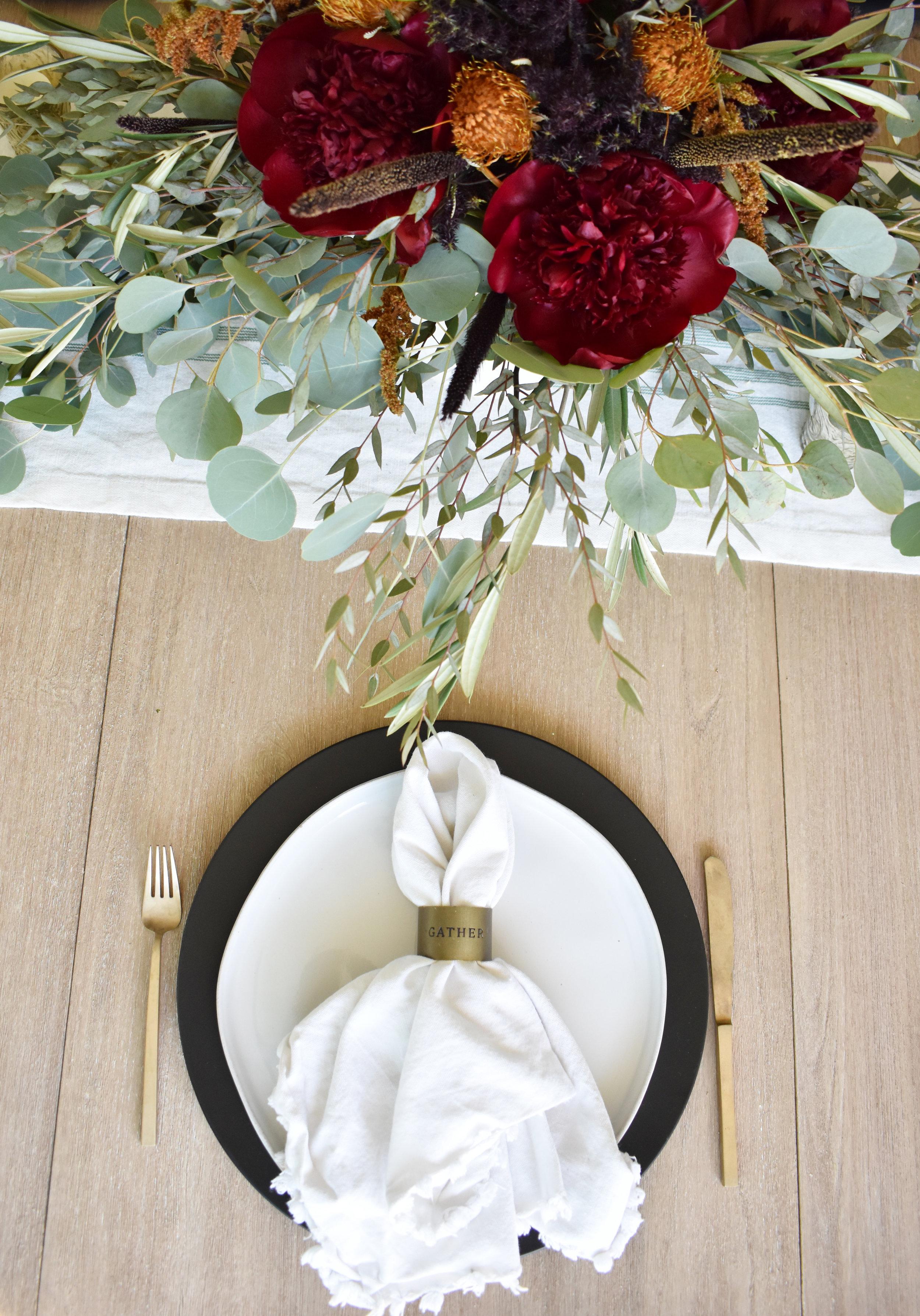 Gather napkin ring