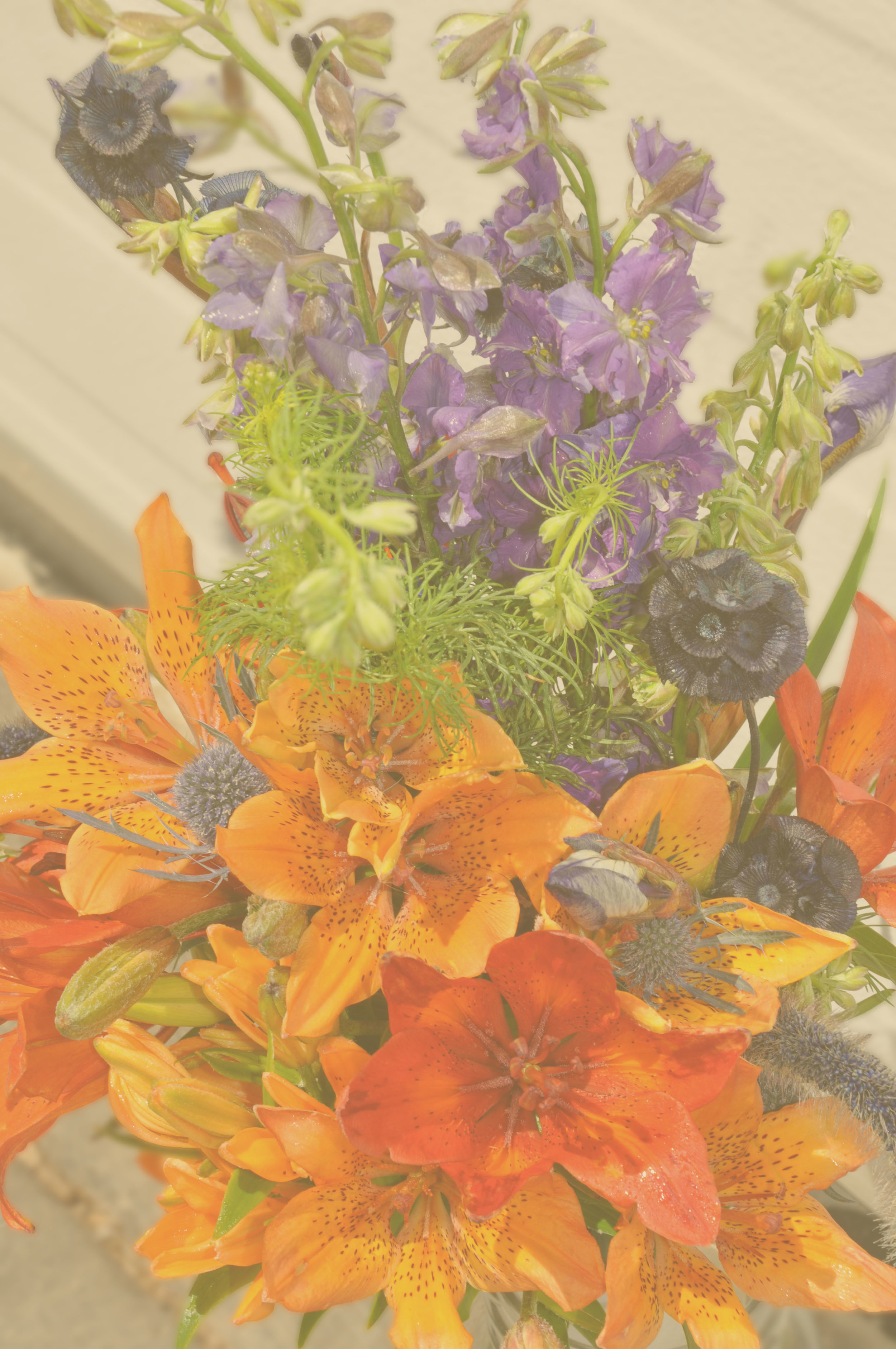 Subscription package B - In season flower arrangements in a vase8 deliveries - 2/monthJune 15-Sept.30$560 plus taxesPick up on farm - save $100