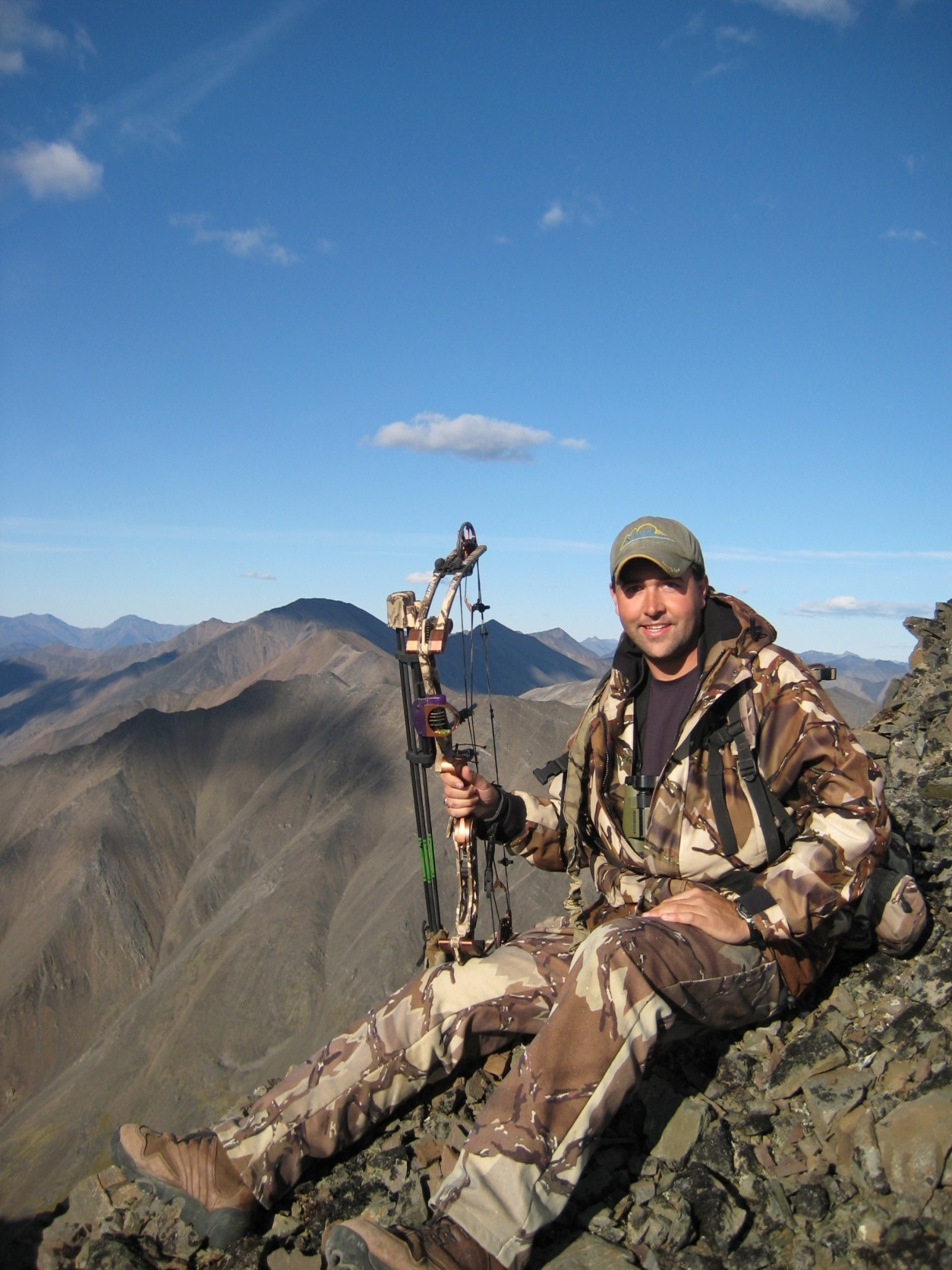 Drew in Alaska on a Dall Sheep hunt