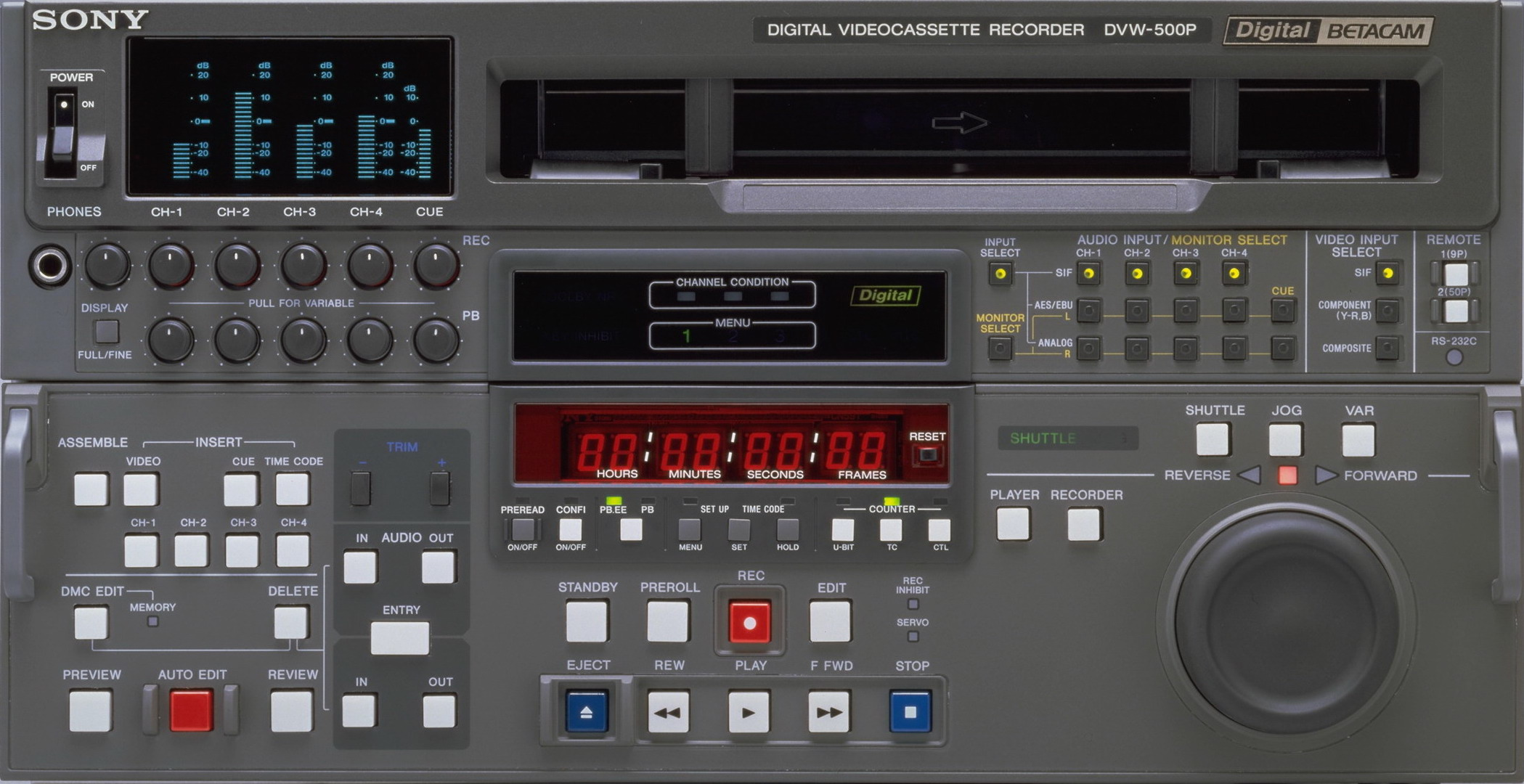 Sony DVW-A500P PAL Digital Betacam Mastering Deck.