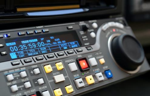 We use Sony broadcast decks with SDI technology.