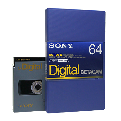 Digital Betacam (commonly referred to as DigiBeta )