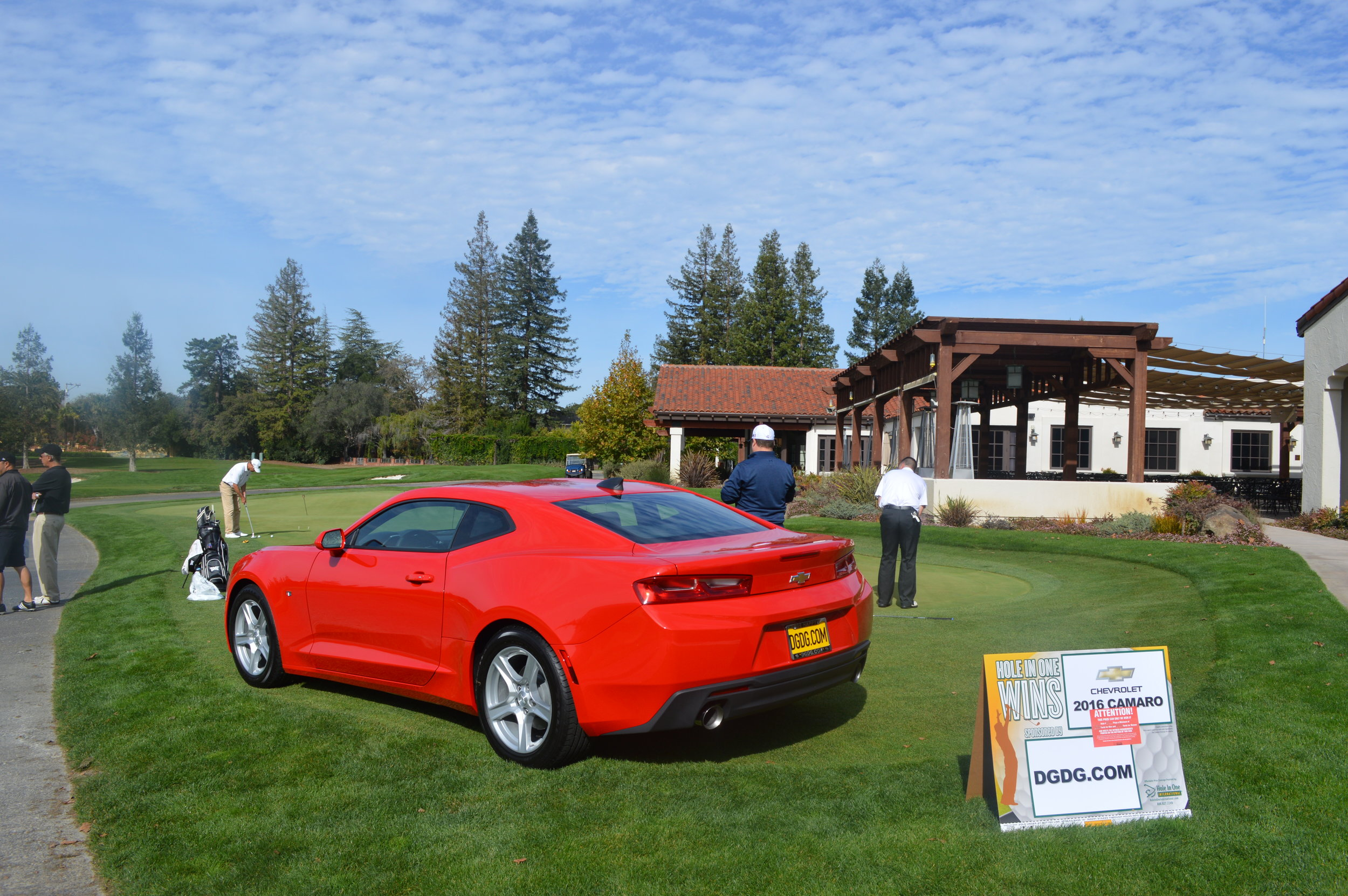 The 2016 Camaro at the Hole in One Challenge