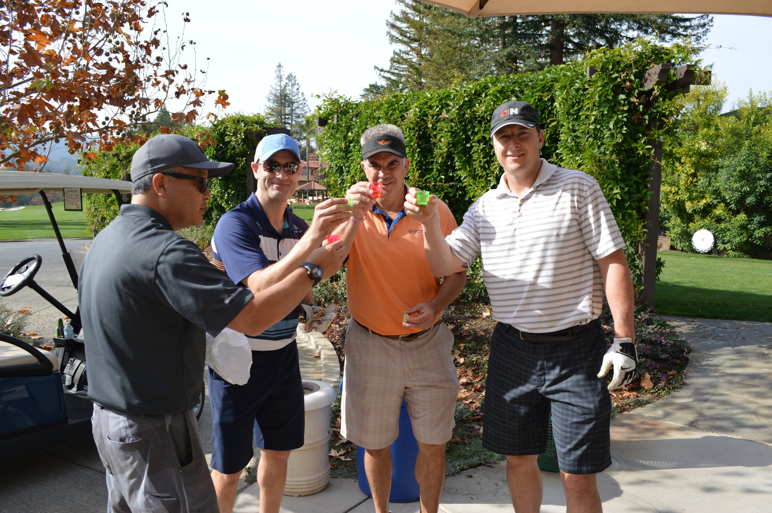 Cheers! The tequila shot 10th hole