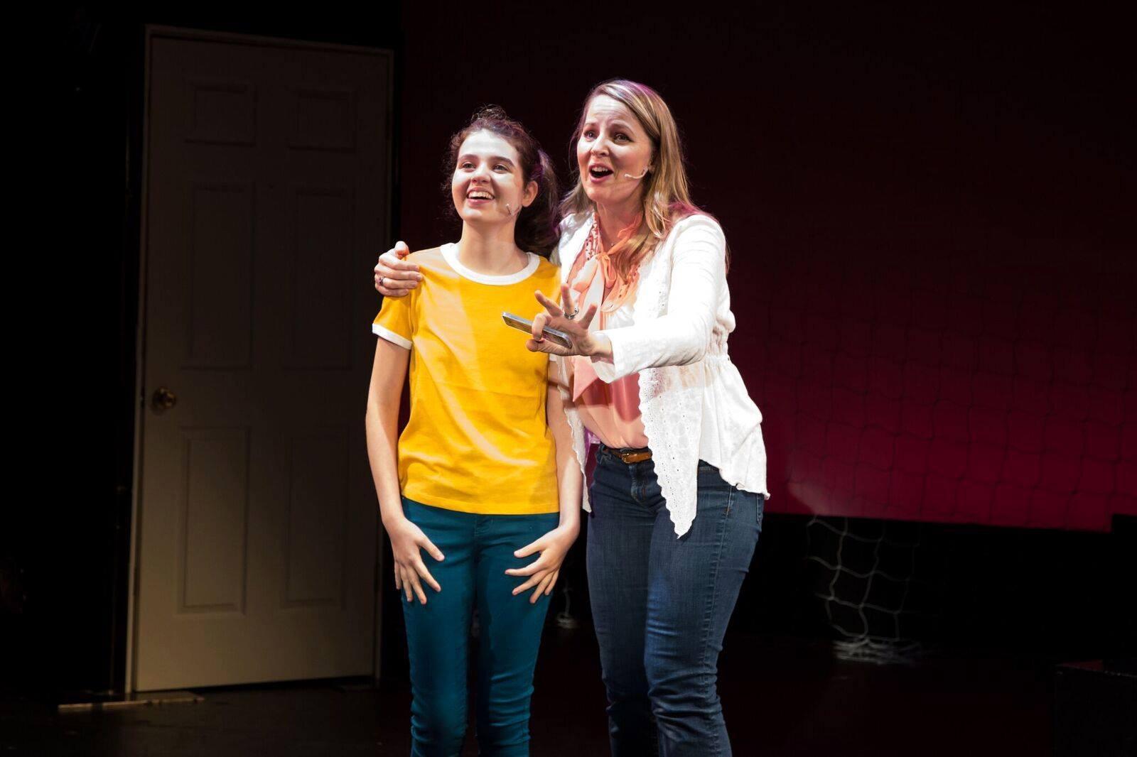 "To my right is Zoe Wilson as my daughter ""Jenna"".  Photo credit Shira Friedman"