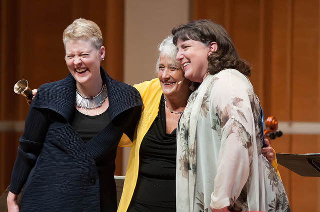 Tony Arnold, Lucy Shelton, and Dawn Upshaw, 2015