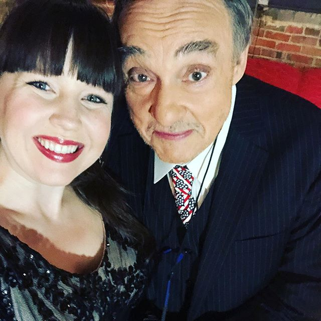 """It was amazing meeting the actor Mr. John Rhys-Davies (Gimli from LOTR) at the Annie Moses Summer Music Festival. A true gentlemen with great conversation and a magical voice. He spoke in true Shakespearean voice to my little inside baby, """"Welcome to the world little one. Make a difference."""" ❤️"""