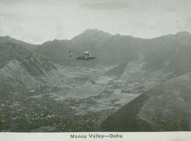 "Manoa valley: ca 1935-- UH library ""aloha hawaii scrapbook"""
