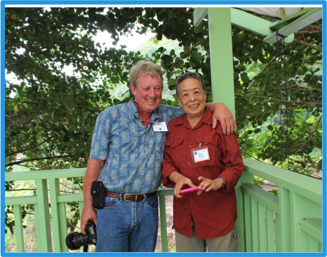 Windward & South Oahu District chairs share a laugh