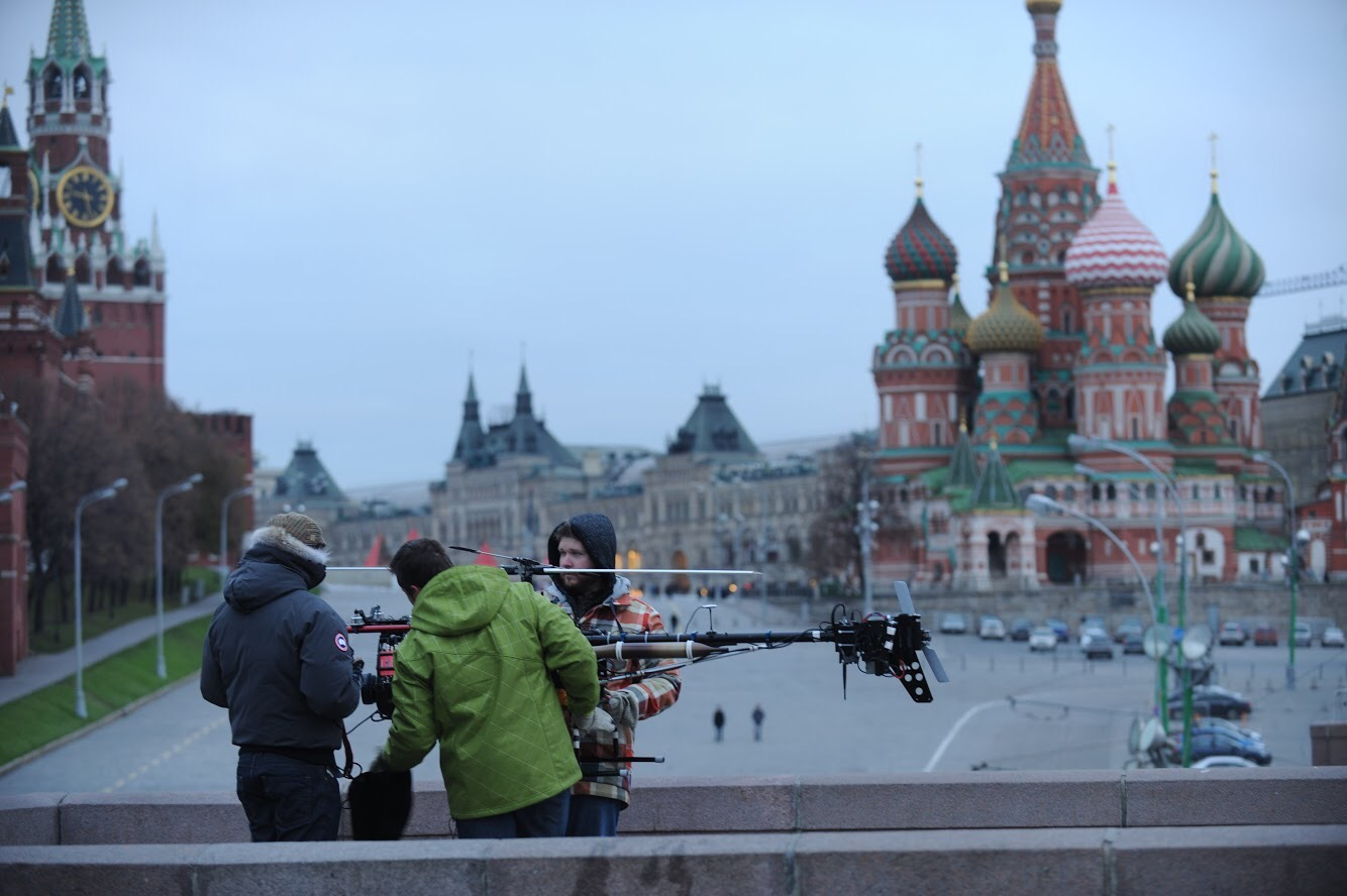 Behind the scenes shooting for Fast and Furious 6 in Russia.