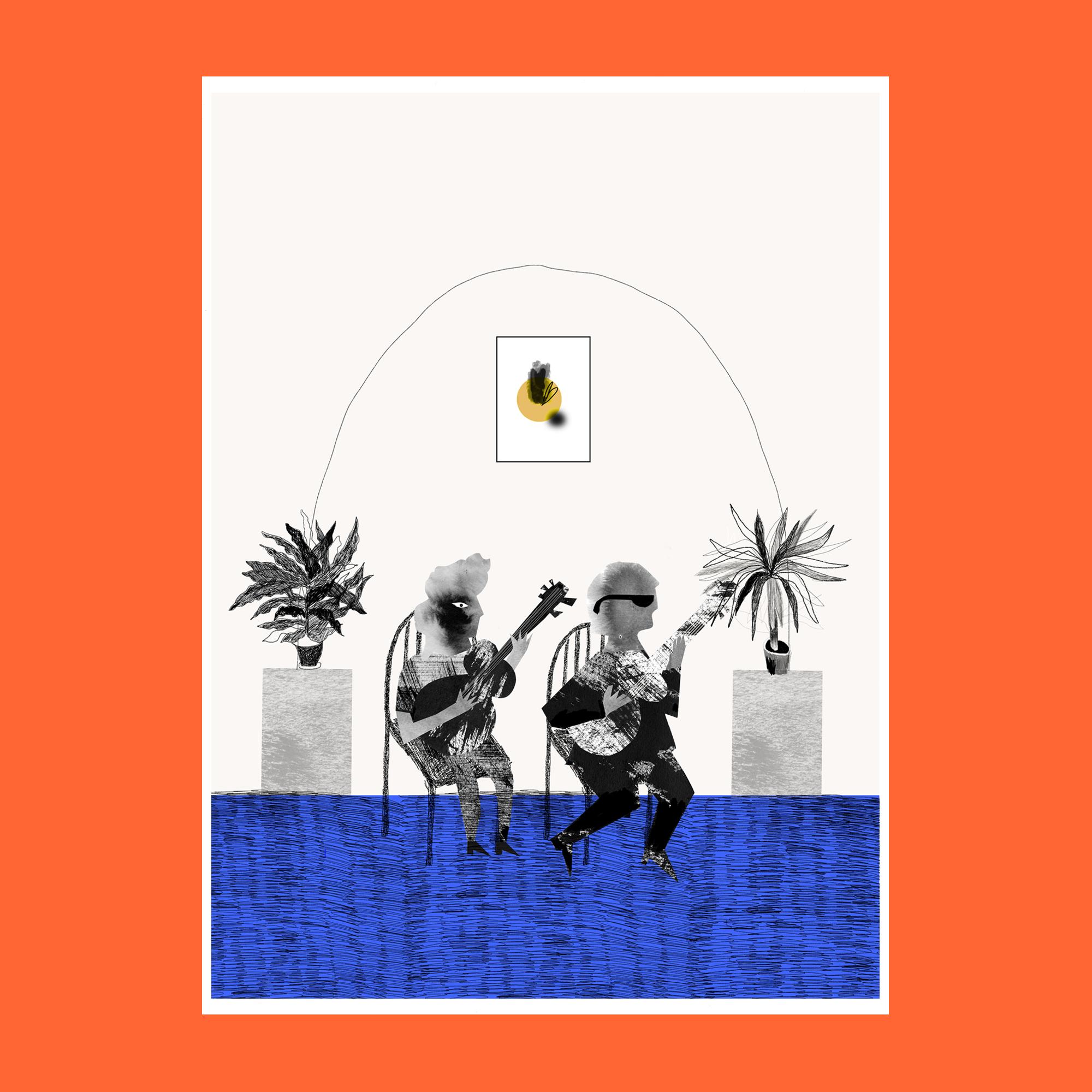 Grace Attlee, Grace Attlee illustration, illustrator, collage, screen print, Margate illustrator, riso