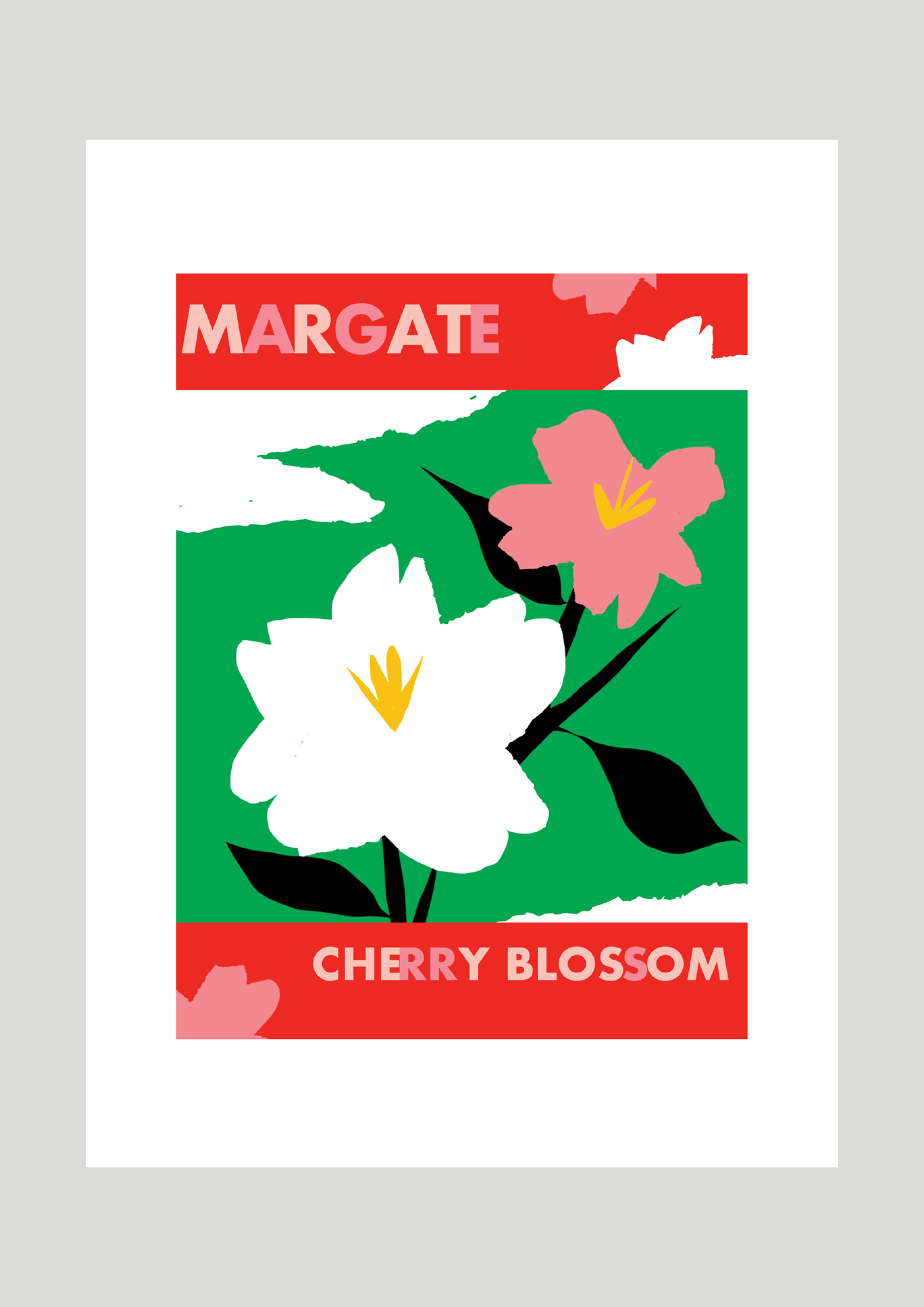 Campaign poster for cherry blossom trees, Margate