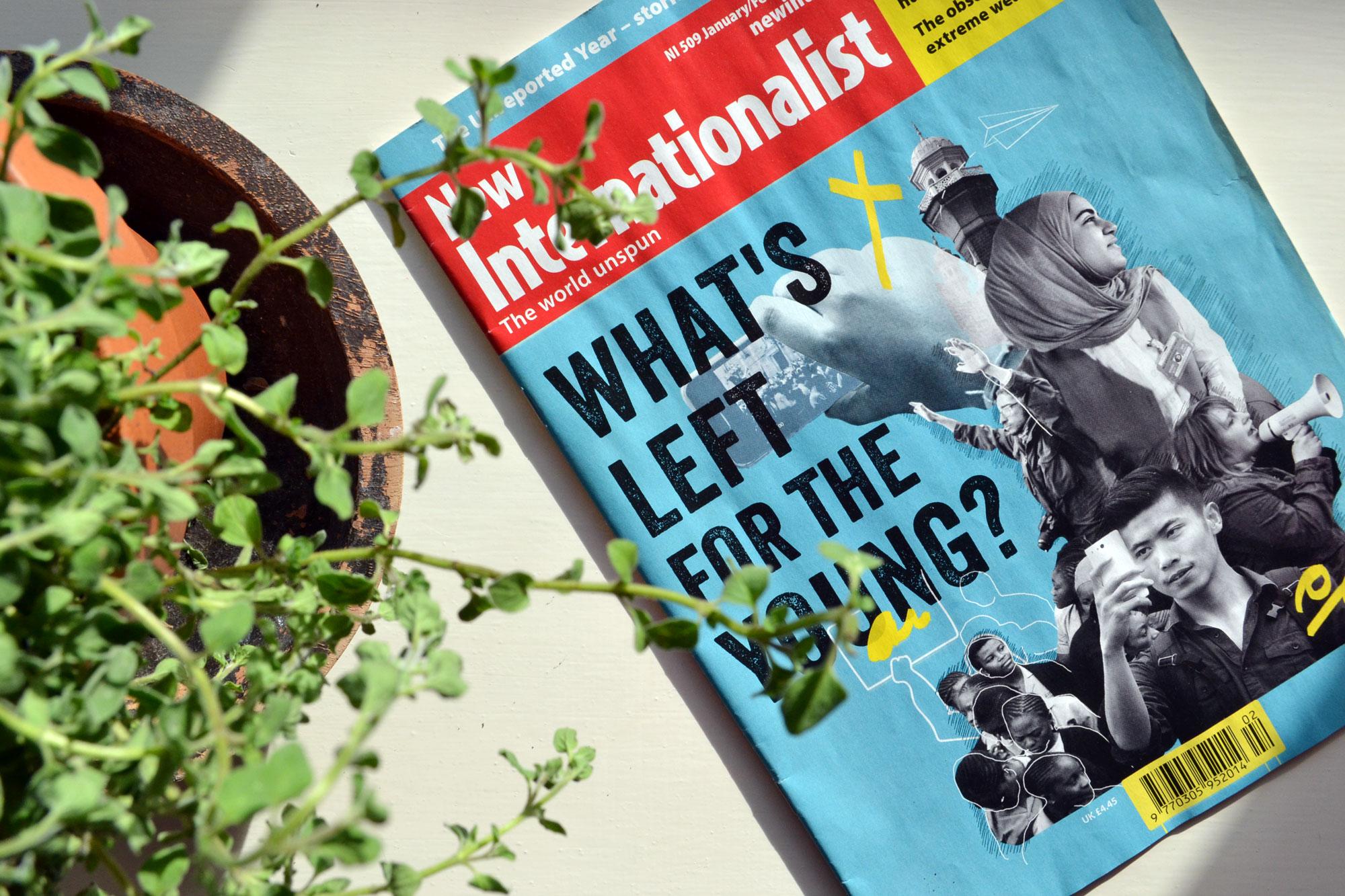 New Internationalist cover design