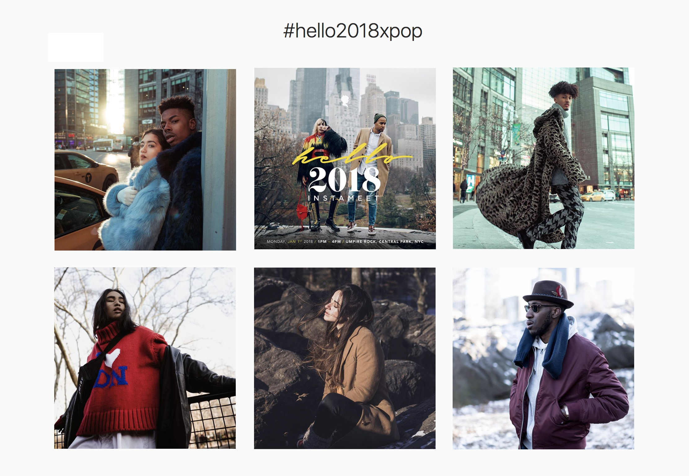 Select photos above via  #hello2018xPoP