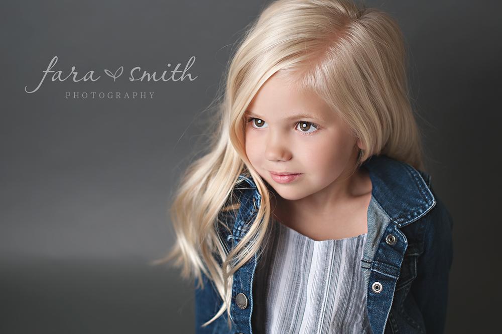 studio portraits, child model