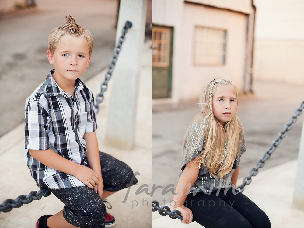 family portraits, downtown Lincoln, CA
