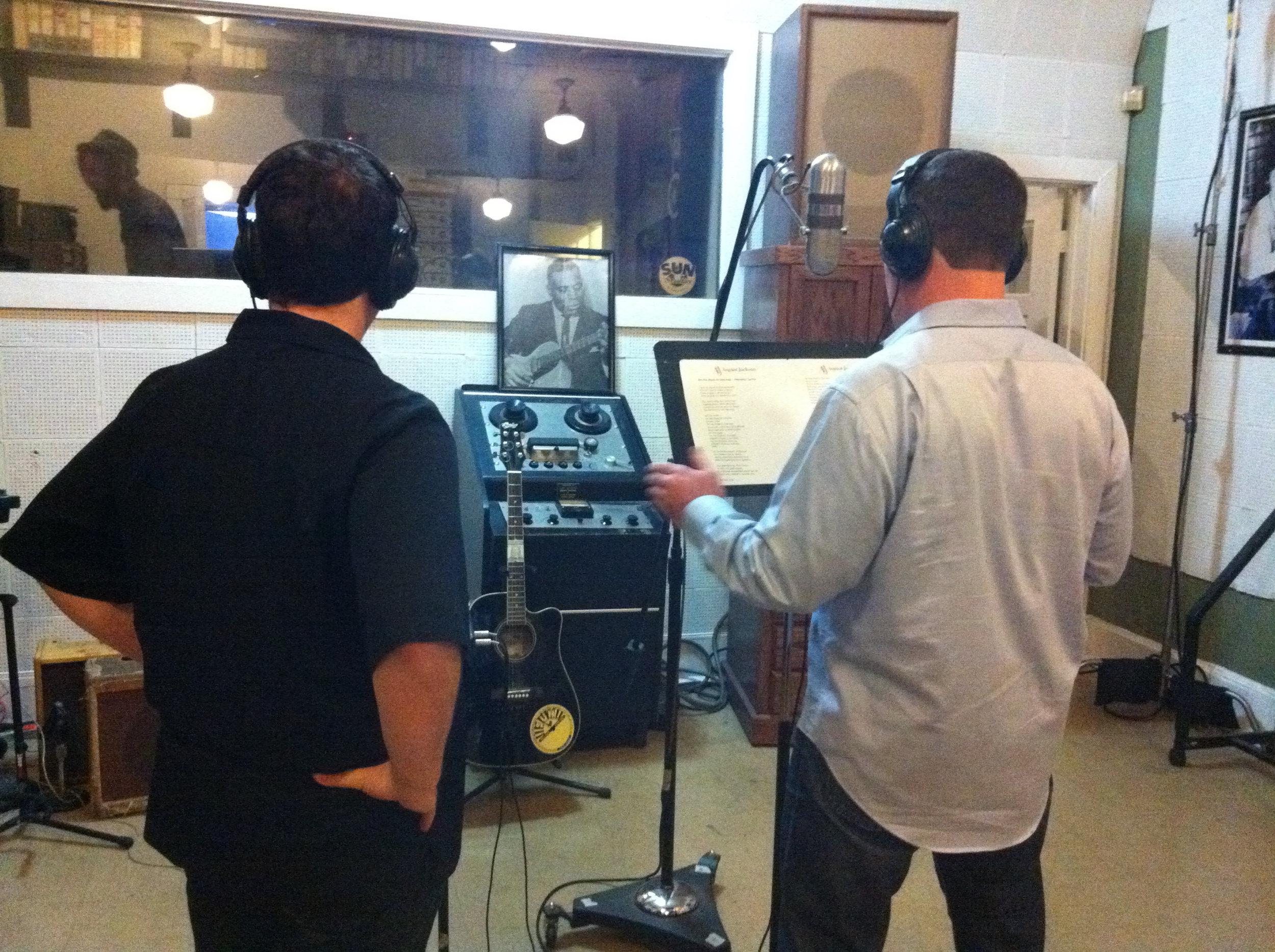 Shooting at Sun Studios Memphis TN
