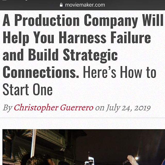 Just launched my new (@mindshawk) article over at  @moviemakermag about harnessing the power of failure to fuel collaboration and a production company is key to protecting you and breeding that success! So get your eyes over to the link in my bio to read my latest article! . . . . . . . . . . #film #filmmaker #directing #producing #productioncompany #filmproductioncompany #videoproductioncompany #videoproduction #filmproductions #manager #talentmanager