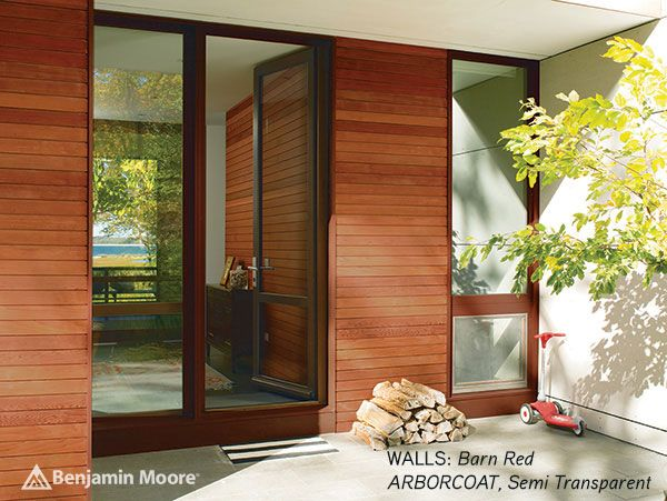 Benjamin Moore Arborcoat WALLS Barn Red Semi Transparent DOORS Oxford Brown Semi Solid copy.jpg