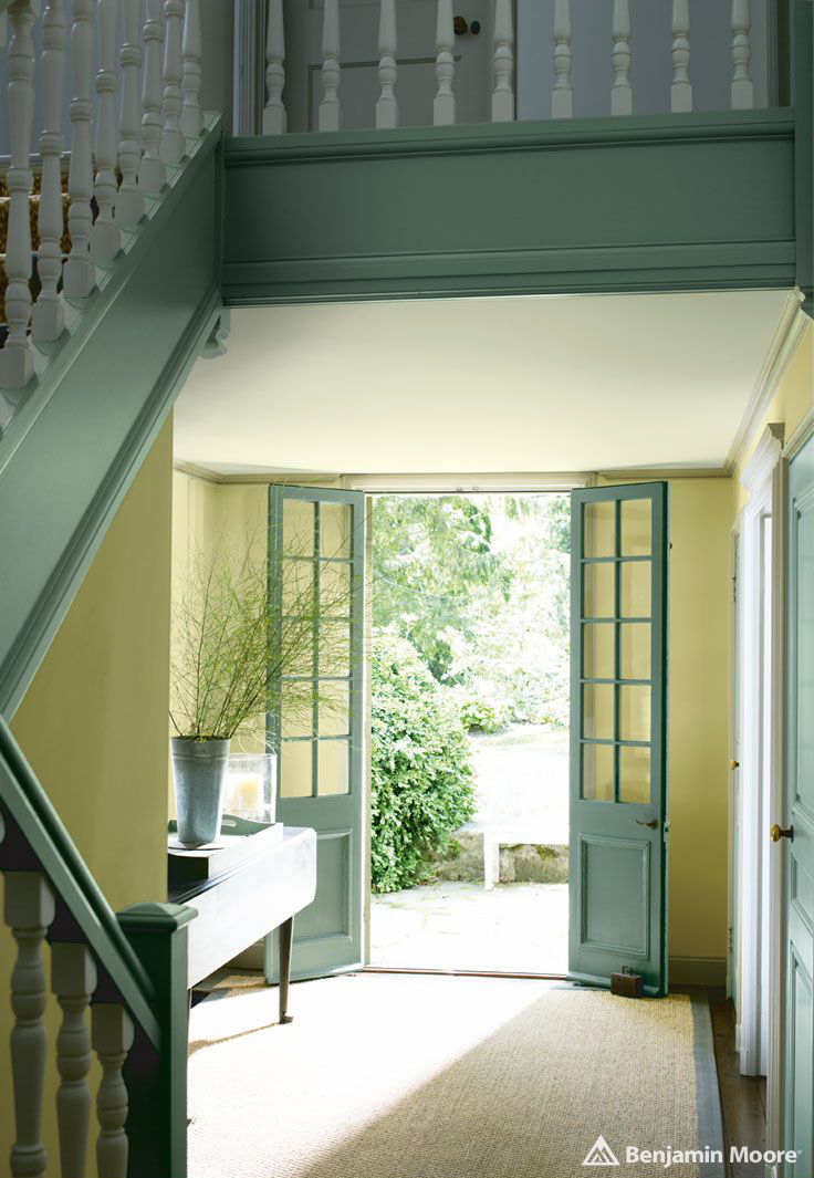 Walls - Timothy Straw 2149-40. Stairway & Door - High park 467. Ceiling - Seahorse 2028-70.