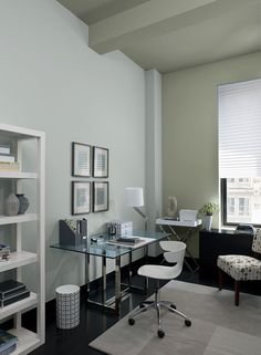 Accent wall & Ceiling- storm cloud gray 2140-40.Walls- smoke 2122-40.