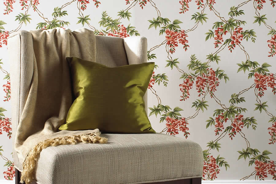 Brewster - Premiere - ANNABELLE RED FLORAL TOILE