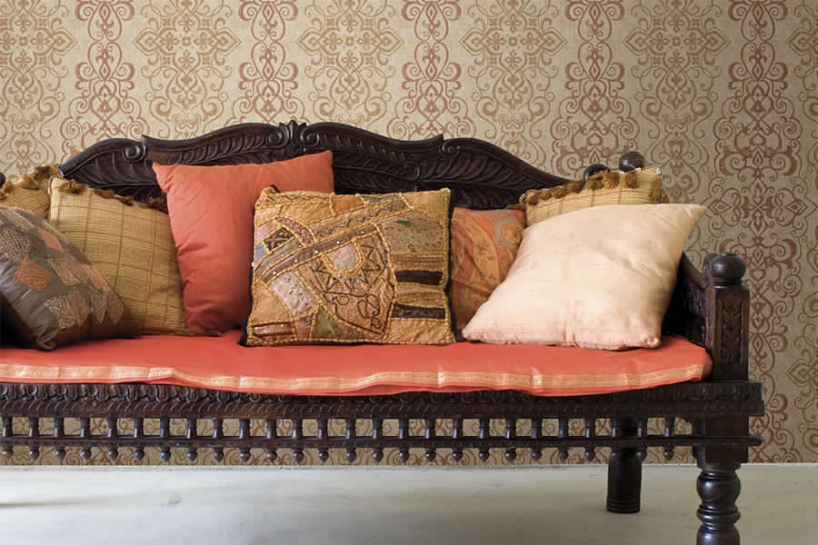 Brewster - Alahambra - MEXUAR COPPER FILIGREE STRIPE