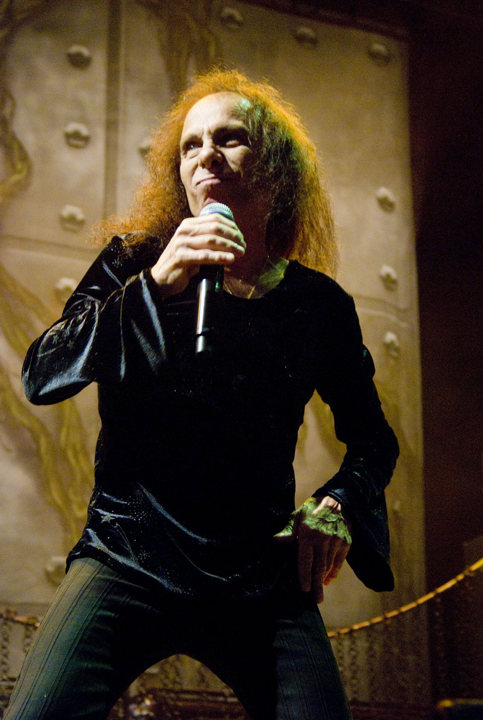 Ronnie James Dio on tour with Heaven and Hell at Charter One Pavilion in Chicago, IL on June 11, 2009. Photo by Adam-Bielawski.