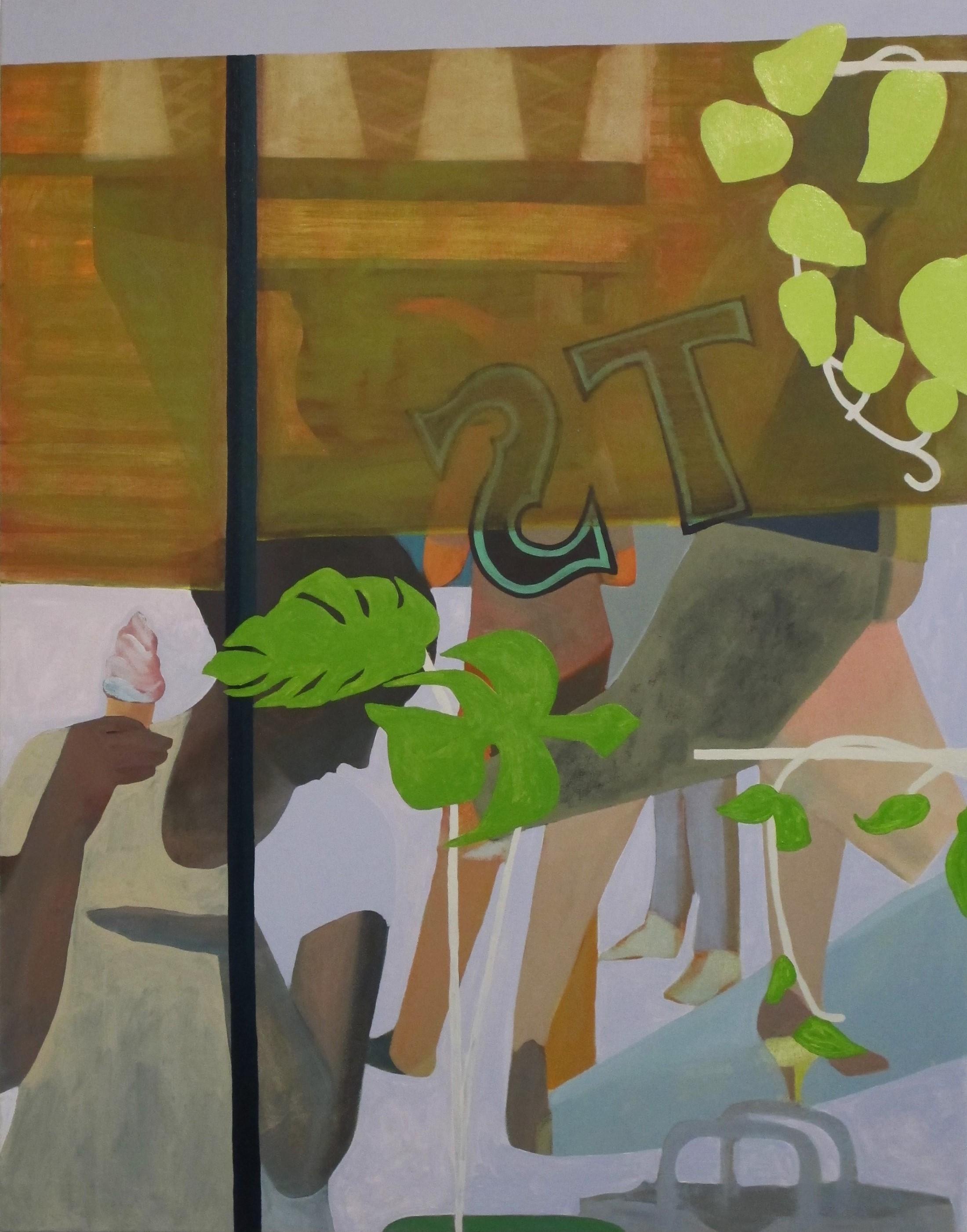 "Oil on canvas, 46x36""  2017"