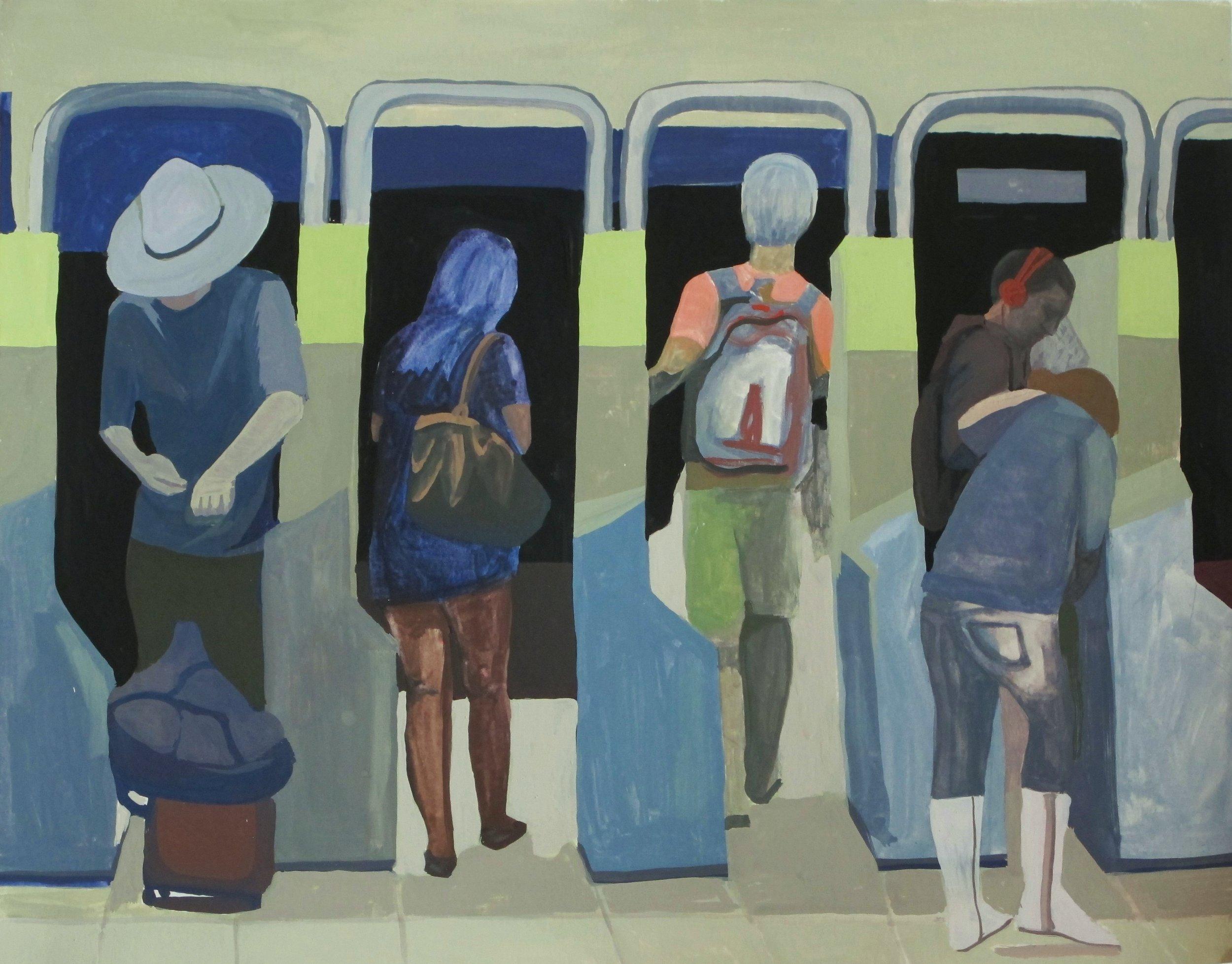 "Gouache on paper, 11x14""  2017"