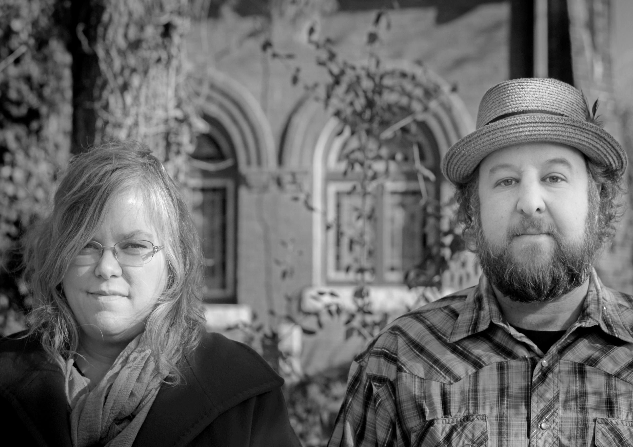 Betse & Clarke building promotional photograph, B/W. Photo credit: Clarke Wyatt
