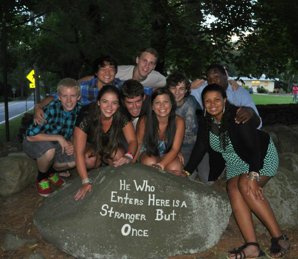 """A painted rock at the entrance of the camp reads """"He who enters here is a stranger but once."""" That has been the experience of generations of people who have come and called ECC a second home. We welcome you as part of the family, and hope that you will come be part of our community and find another home!"""