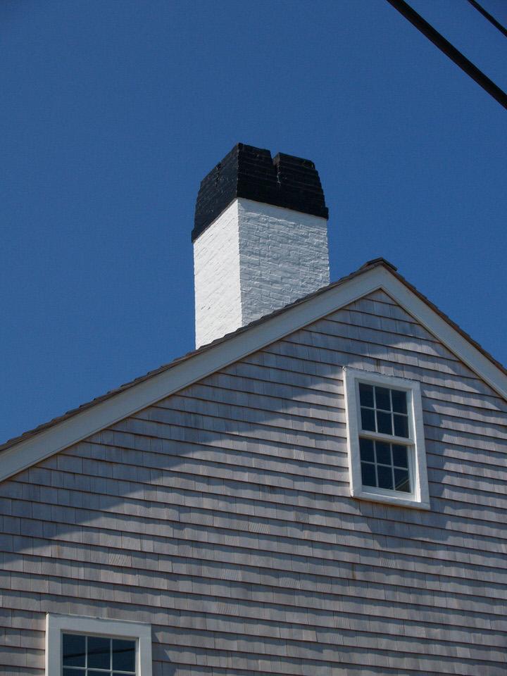 White and black chimney