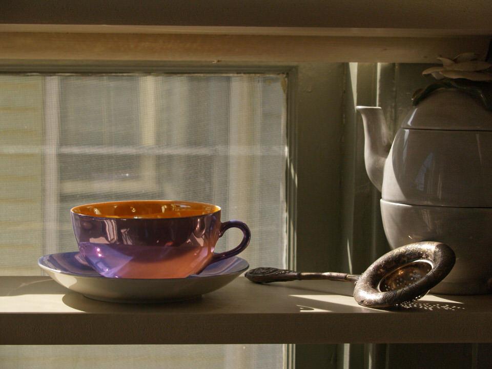 Lusterware tea cup