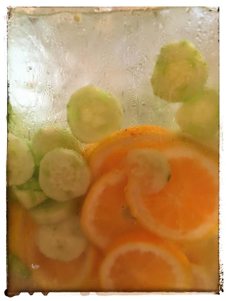 Cucumber orange water