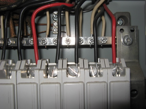 Aluminum wiring in the panel