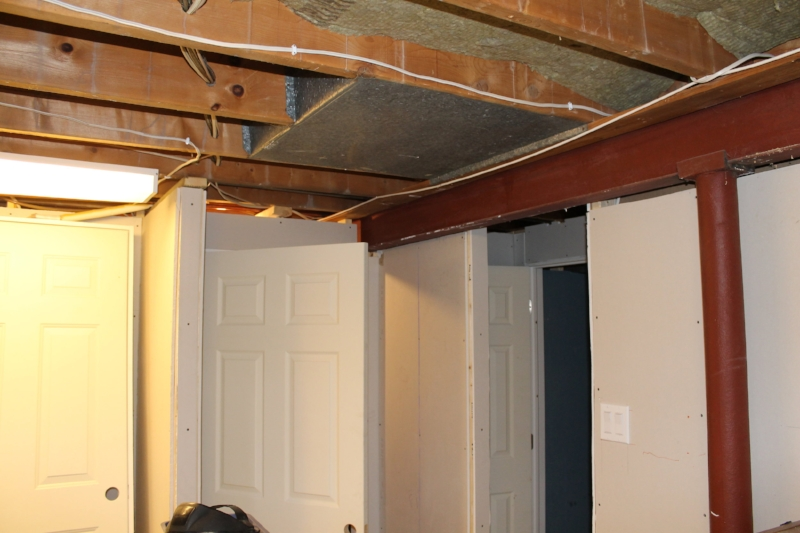 Post and beam system is much more ideal for opening up a basement space compared with a structural wall