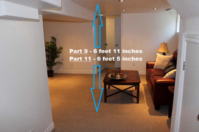 Height requirements for basement suites