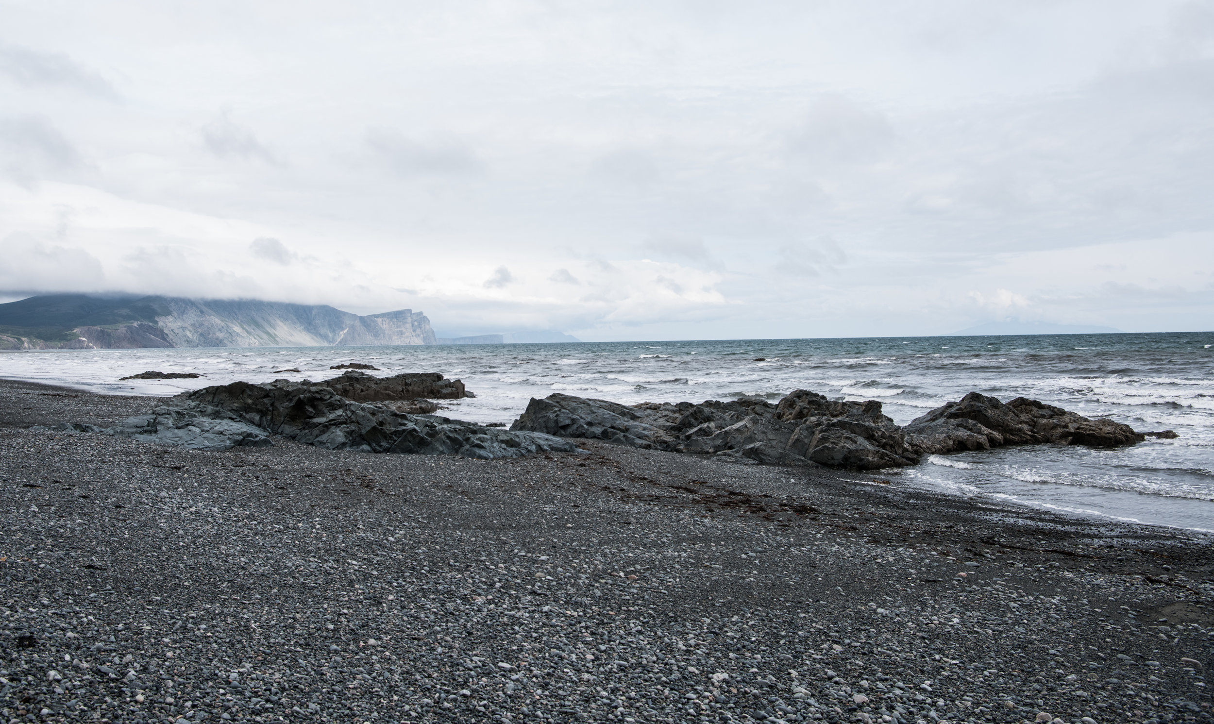 Amakdedori Beach located on the west side of Cook Inlet, just a few miles from the active volcano Mount Saint Augustine and just southwest of Homer, where Pebble proposes a massive industrial complex and port.  Photo by Jayme Dittmar
