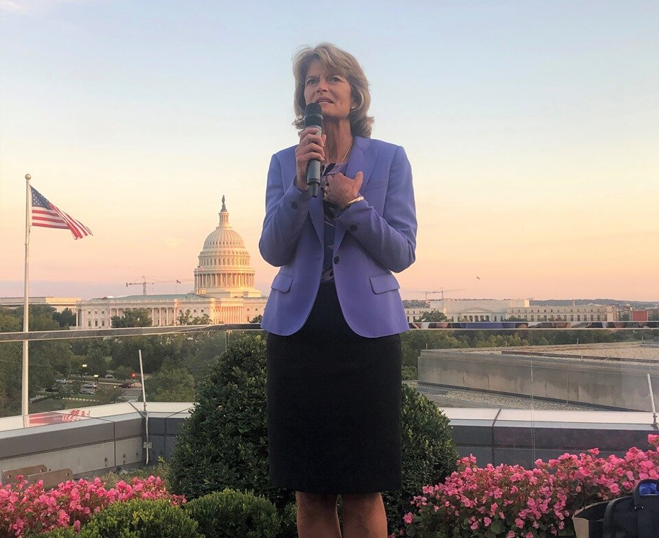 Senator Murkowski issues a stern warning to Pebble and the Army Corps of Engineers at the Bristol Bay Salmon week celebration in Washington, D.C. in September.