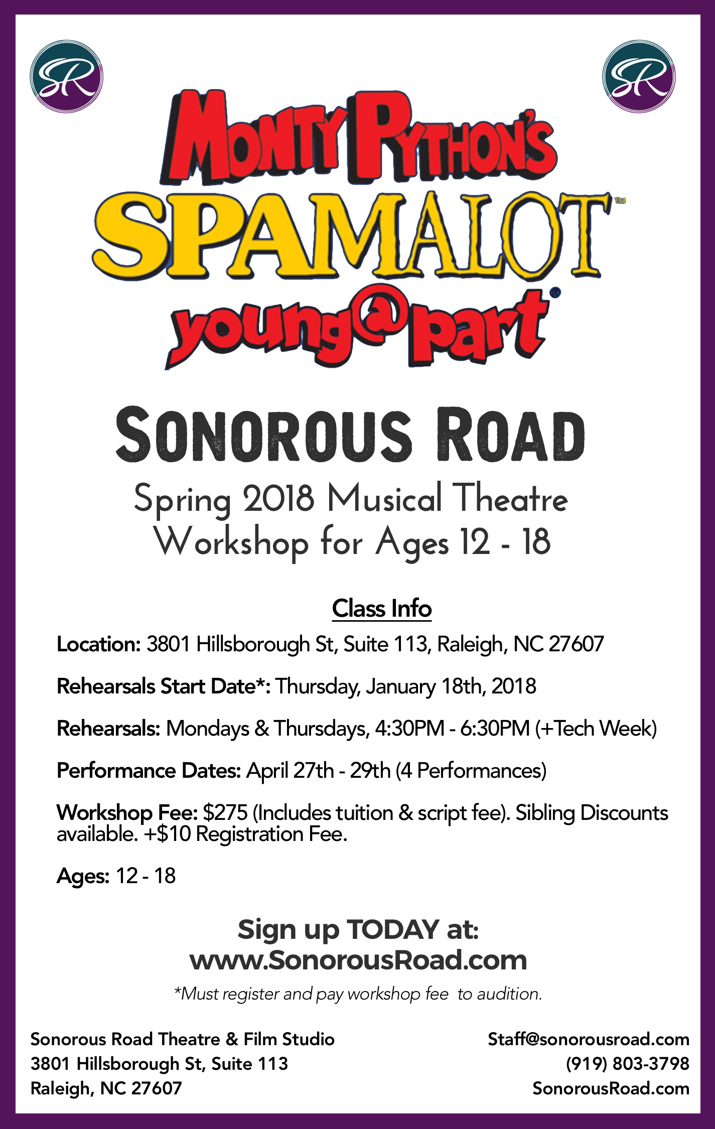 SPAMALOT (Spring 2018) Announcement.png